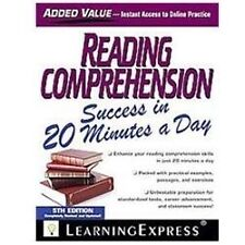 Reading Comprehension Success in 20 Minutes a Day by Learning Express Llc...