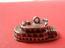 Steam Boat Paddel Wheeler Vintage Charm In Solid Cast Sterling 925 Very Detailed