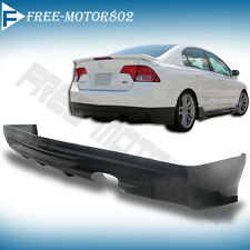 FOR 06-11 HONDA CIVIC 4DR SEDAN MUGEN STYLE REAR BUMPER LIP SPOILER BODYKIT PU