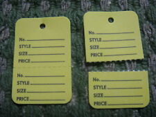 "300 Clothing Price Tagging Tag Gun Hang Paper Label Yellow 1 1/4"" by 1 7/8"""