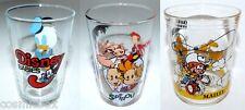Lot 3 verres à moutarde DISNEY BABIES de 1985 SPIROU BOULE et BILL Maille Amora