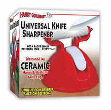 Handy Gourmet Universal Ceramic Knife Razor Sharpener Pro Sharpens Handy NEW