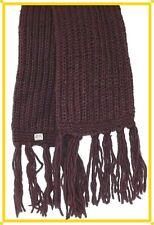 Strickschal Wollschal Schal Lila taupe, Winterschal,100% Wolle,190 cm,Grobstrick