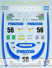 MAZDA 787B #56 MAZDA LM 1991 DECAL for 1/24 TAMIYA YORINO DIEUDONNE