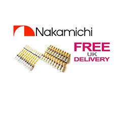 40x Nakamichi Speaker spina a banana 24k Placcato in oro connettore REGNO UNITO