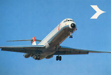 AIRLINE ISSUE POSTCARD - DOUGLAS DC-9 OF AUSTRIAN AIRLINES