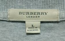 GUC BURBERRY LONDON women's cotton Vneck 3/4 sleeve logo embroidered shirt szUSL