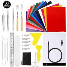 33pc Vinyl Weeding Pick Tools Kits With A4 Led Light Padampheat Transfer Sheets