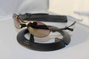New Oakley E Wire 2.0 Sunglasses Bronze/Gold Rare 2000