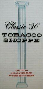 "Vtg CLASSIC ""30"" TOBACCO SHOPPE Sign Humidor Freshner Cigar Plexigas Advertising"