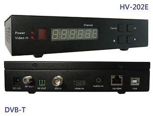 HV-202EV FullHD DVB-T Modulator, Compatible with the Zapelin.Cloud Muxing Engine