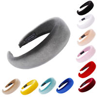 Women Wide Hairband Thick Sponge Velvet Headband Ladies Sponge Hair Band Hoop