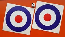 "RAF Cocarde paire de 4.5"" Pouces Autocollants Mods The Who Target Mi."