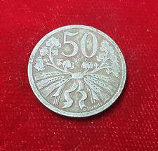 50 Haleru Heller 1921 Coin Münze Tschechien Tschechoslowakei