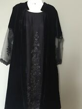 Beautiful Dress For Special Event,velvet N Embroidered Net Gown Style Dress