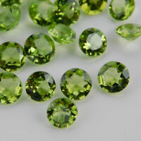 SALE!! AMAZING Lot Natural PERIODT 3x3 mm Round Faceted Cut Loose Gemstone