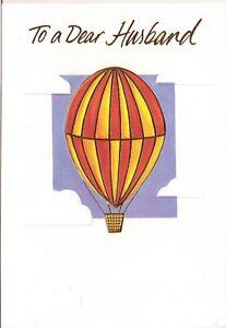 BIRTHDAY CARD FOR A DEAR HUSBAND - HOT AIR BALLOON