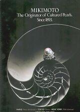 ▬► PUBLICITE ADVERTISING AD MIKIMOTO Perle bijou Pearls 1991