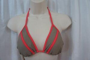 Red Carter Bikini Top Sz XS Tan Slide Triangle Swimwear Bikini Swim String Top
