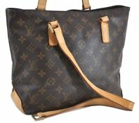 Authentic Louis Vuitton Monogram Cabas Piano Tote Bag M51148 Junk LV C3326