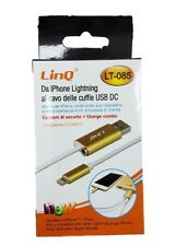Cavo Adattatore Lightning Iphone 7 - Usb Maschio Aux 3,5mm Femmina Linq Lt-085