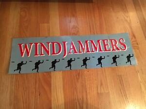 Windjammers Video Arcade Game Marquee, Data East 1994