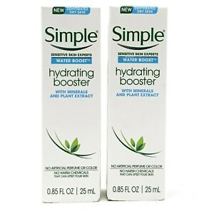 SIMPLE Water Boost - Hydrating Face Booster for Dry Sensitive Skin - LOT OF 2