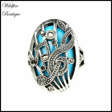Marcasite Statement Fashion Rings