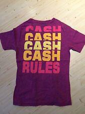 REVIEW T-Shirt mit Print Herren Gr. M beere pink gelb CASH RULES wie neu