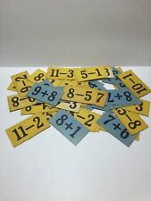 Set Of 45 Vintage Math Flashcards Addition Subtraction Crafts Mixed Media