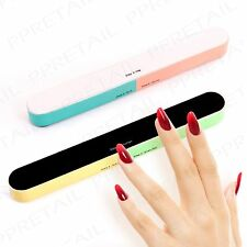 2Pc STEP-BY-STEP Deluxe Nail Filer & Buffer 4-Way Emery Board Manicure/Pedicure