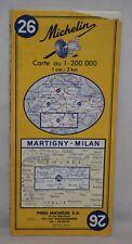 Switzerland/Italy - Michelin 1:200,000 Map - Martigny, Milan, Sheet 26 - 1971