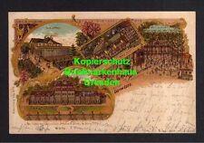 114495 AK Wolfenbüttel Litho 1900 Restaurant Antoinettenruh Cavalierhaus Lustsch