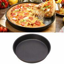 New Round Dish Deep Pizza Pan Non-stick Tray Pie Baking Kitchen Tool 22cm Steel