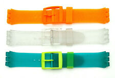 Rubber Strap For Swatch Lug 18 MM