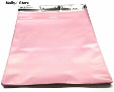 100 PALE PINK COLOR POLY MAILER BAG 12 x 15.5 BOUTIQUE SHIPPING ENVELOPE MAILING