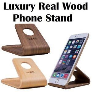 Universal Wooden Mobile Phone Desktop Stand Holder iPhone 12 11 XR Samsung Sony