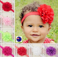 Baby Infant Kids Child Girl Christening Shower Lace Flower Hair Head band Prop