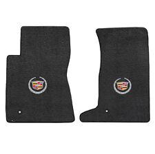 2011-2014 Cadillac CTS-V Coupe Ebony Black Floor Mats Set - Crest & Wreath Logo