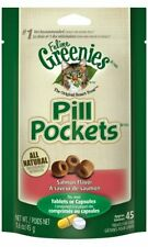 6 Pack - Greenies Feline Pill Pockets Treats for Cats, Salmon Flavor, 1.6oz/45ct