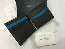 Paul Smith cartera Money clip 8x tarjeta de Crédito plegable azul marino