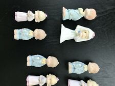 Precious Moments Miniature Hand Painted Pewter Wedding Group 8 Pieces