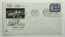 1951 FDC United Nations First Day of Issue New York Postmark Artcraft 3c UN Flag