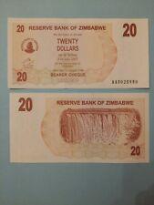 ZIMBABWE 20 Dollars UNC NEUF 2006 AFRIQUE