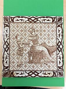 "Superb 8"" Victorian Pictorial Tile"