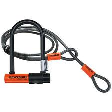 Kryptonite Evolution Mini 7 Flex Cable Bike D U Lock Kit Secure