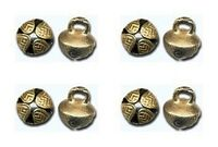 """10 SOLID BRASS JINGLE BELLS ~ 19mm 3/4"""" Beads Crafts Drops Pendants ~ from INDIA"""