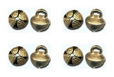 "10 SOLID BRASS JINGLE BELLS ~ 19mm 3/4"" Beads Crafts Drops Pendants ~ from INDIA"
