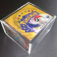 Pokemon Acrylic Display Case for Booster Box - PERFECT FIT w/ Magnetic Cover