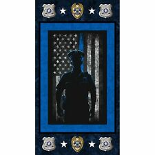 Police Panel by Sykel-American Flag-Blue Line-Badges